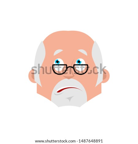 Doctor bewildered emotion avatar. Physician at a loss emoji. Vec Stock photo © popaukropa