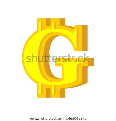 Carta bitcoin fuente alfabeto virtual dinero Foto stock © popaukropa