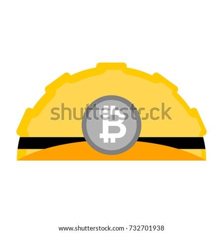 Helm geïsoleerd werken Geel vector licht Stockfoto © MaryValery