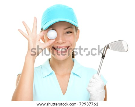 White golf ball with funny cap and golf club on the white backgr Stock photo © CaptureLight