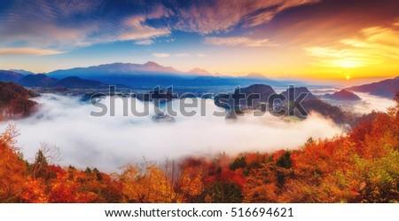 festői · reggel · jelenet · nagyszerű · kilátás · dombok - stock fotó © leonidtit