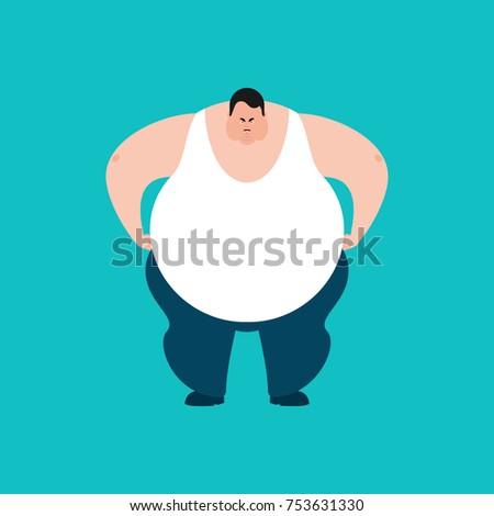 Tłuszczu zły facet zło duży człowiek Zdjęcia stock © popaukropa