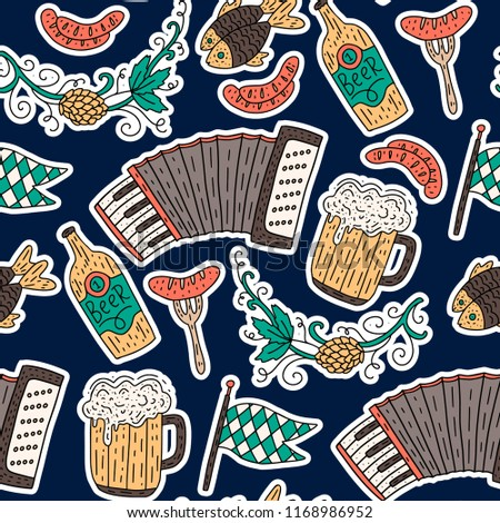 beer mug and flag of germany seamless pattern of symbol oktobe stock photo © popaukropa