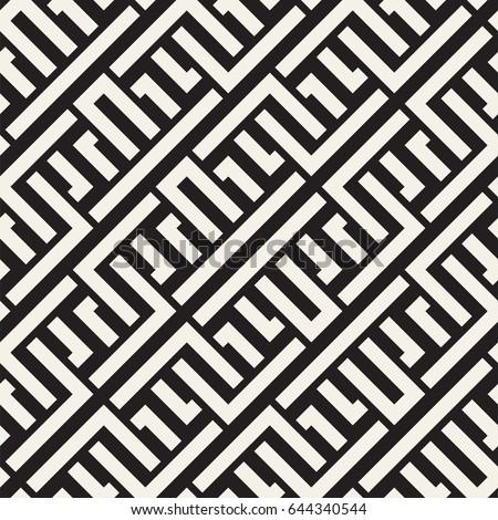 行 · 迷路 · 民族 · モノクロ · テクスチャ · ベクトル - ストックフォト © Samolevsky