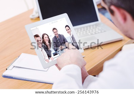 hírek · digitális · tabletta · táblagép · képernyő · munka - stock fotó © stevanovicigor