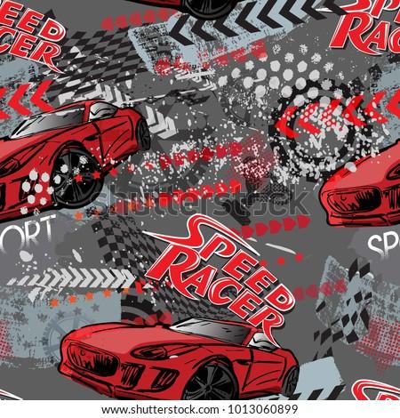 エンジン レース パターン シームレス モータ オートバイ ストックフォト © popaukropa