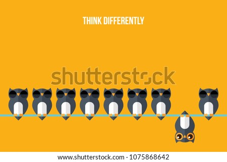 Think differently leader for innovation and creativitity concept Stock photo © kenishirotie