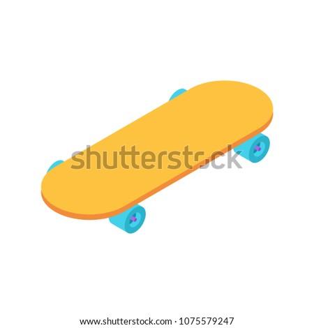 Stock photo: Skateboard isometric style isolated. Skateboarder vector illustr
