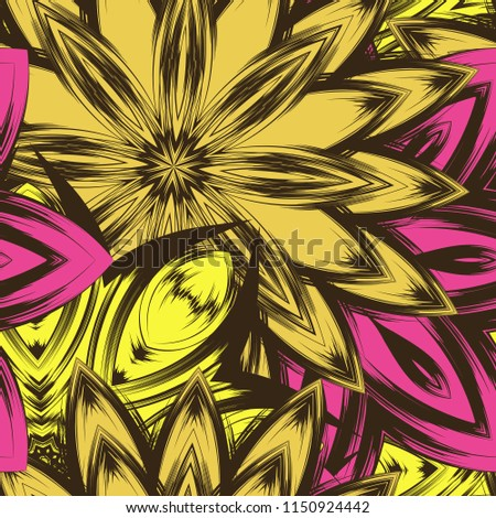 Cross stitch vector seamless folk art single pattern with flowers and animals - retro background ins Stock photo © RedKoala