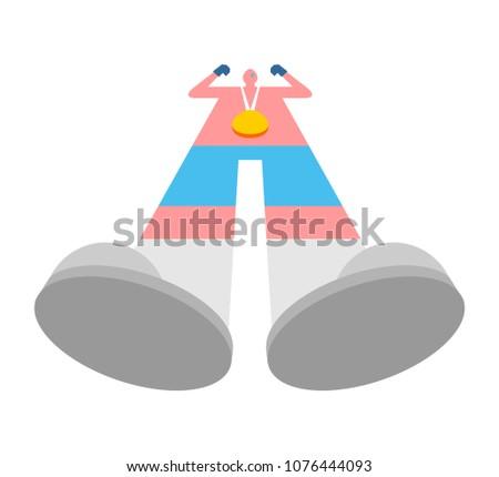gouden · medaille · vector · best · eerste · plaatsing · sport - stockfoto © popaukropa