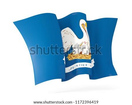 Stockfoto: Louisiana · vlag · icon · Verenigde · Staten