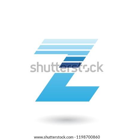 Kék szeletel z betű vízszintes csíkok vektor Stock fotó © cidepix