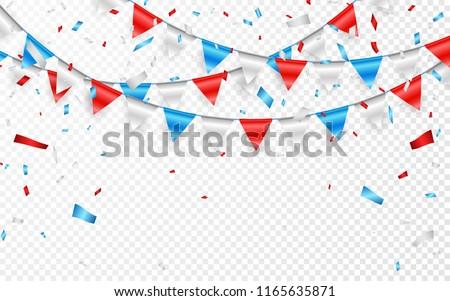 ünneplés · buli · szalag · kék · fehér · konfetti - stock fotó © olehsvetiukha