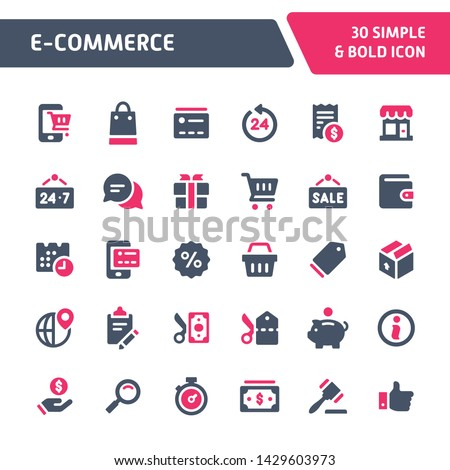 E commerce and shopping icon collection. Flat vector illustration Stock photo © makyzz