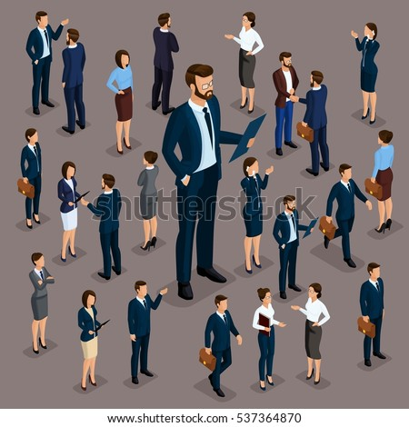 Financial Success, Business Man And Woman Stands Under Umbrella Under Falling Money Vector. Isolated Stock photo © pikepicture