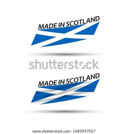 modern · vektör · İskoçya · etiket · yalıtılmış · beyaz - stok fotoğraf © kurkalukas