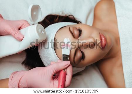 piękna · spa · kobieta · maska · twarz - zdjęcia stock © pikepicture
