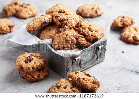 Christmas cookies with raisins Stock photo © BarbaraNeveu