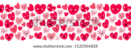 Valentines day sale background with heart emoticons, emoji smiley faces, vector illustration. Wallpa Stock photo © ikopylov