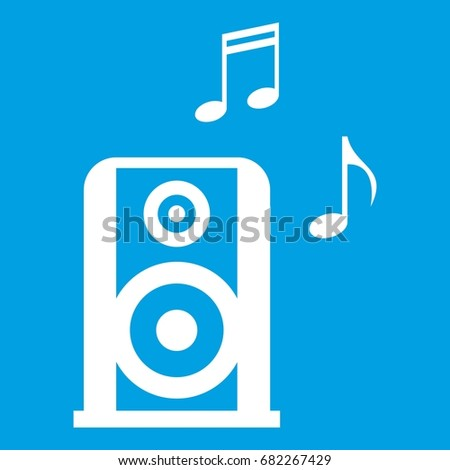 ポータブル 音楽 アイコン 単純な スタイル 孤立した ストックフォト © kyryloff