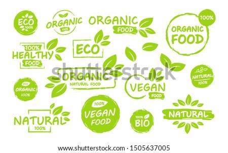 Zdjęcia stock: Bio · produktu · eco · 100 · procent · organiczny