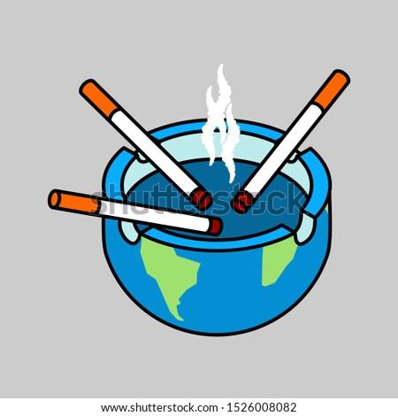 cigarro · fumar · isolado · fumador · azul · tabaco - foto stock © maryvalery