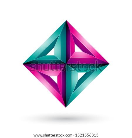 Verde magenta 3D geométrico diamante forma Foto stock © cidepix