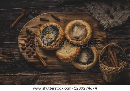 eski · bohem · kekler · haşhaş · tohumları · tarçın - stok fotoğraf © Peteer