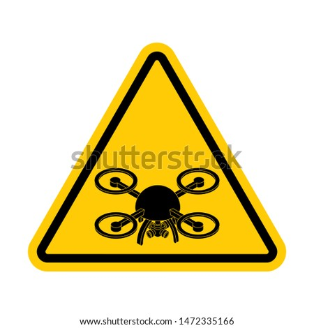 Attention quadrocopter. Danger of aerial photography. Yellow roa Stock photo © MaryValery