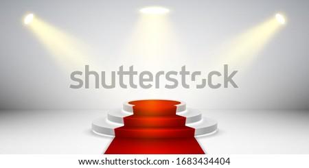 kırmızı · halı · dosya · sahne · tiyatro · kutlama · olay - stok fotoğraf © andrei_