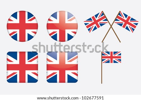 Banner with two square flags of United Kingdom and switzerland Stock photo © MikhailMishchenko