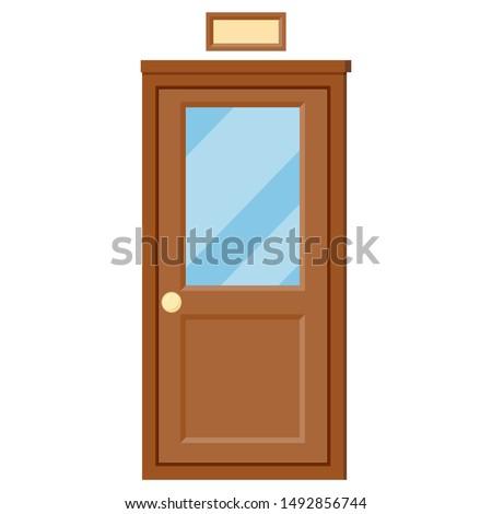 Aula puerta vector clásico escuela entrada Foto stock © pikepicture
