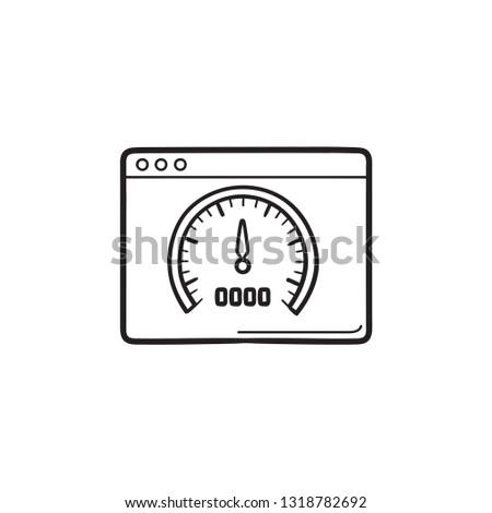 velocímetro · painel · de · instrumentos · vermelho · linear · veículo · painel · de · controle - foto stock © rastudio