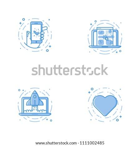 Coração ícone linear estilo Foto stock © kyryloff