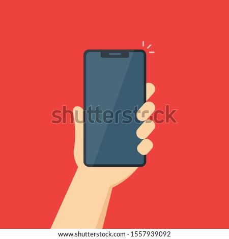 komórkowych · aplikacje · ręce · telefony · strony · telefonu - zdjęcia stock © makyzz