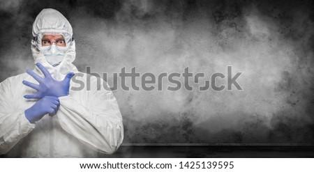 Man pak stofbril kamer banner Stockfoto © feverpitch