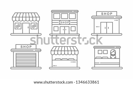 Icon of store facade or market exterior for shopping and retail  Stock photo © ussr