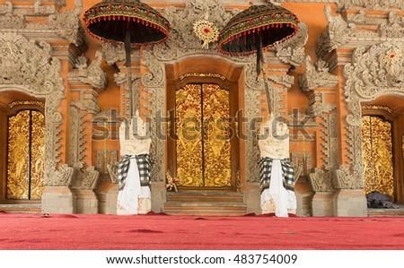 palacio · bali · dentro · Indonesia · edificio · viaje - foto stock © galitskaya