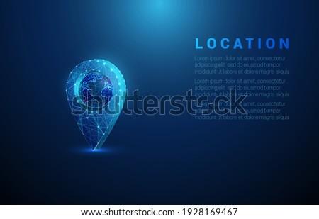 Dünya içinde pin vektör ikon global Stok fotoğraf © kyryloff