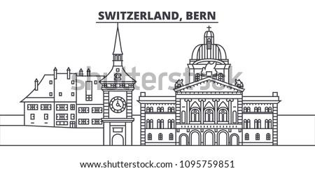 Сток-фото: город · силуэта · Швейцария · старый · город · мнение
