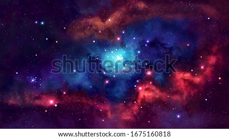 Stock photo: Nebula and galaxies in deep space. Elements of this image furnished by NASA.