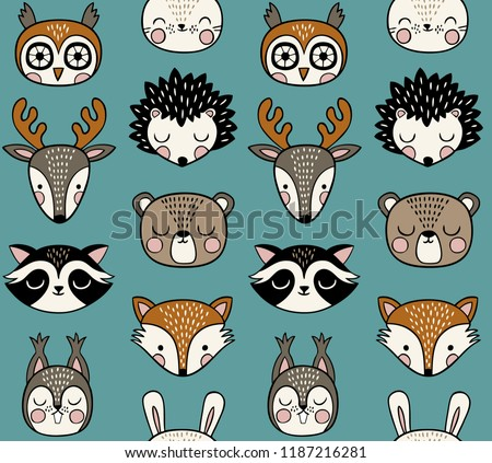 Cartoon doodles Winter season seamless pattern. Endless illustration. Stock photo © balabolka