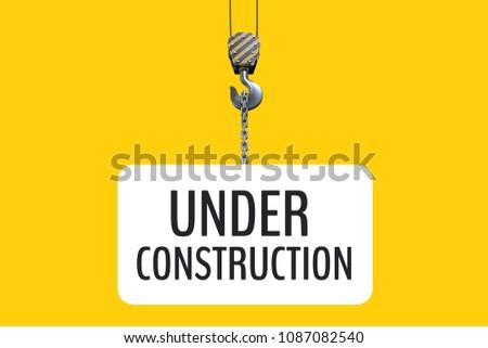 Construção texto enforcamento gancho amarelo composição digital Foto stock © wavebreak_media