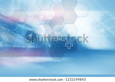 molecular hexagonal structure healthcare and medical background Stock photo © SArts