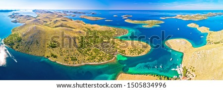 Amazing Kornati Islands national park archipelago aerial view Stock photo © xbrchx