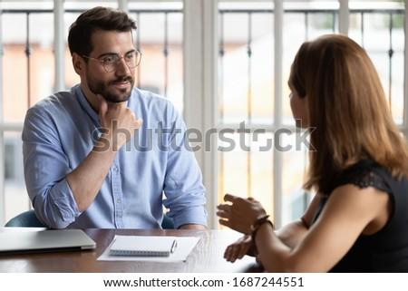 Zespołowej proces działalności koledzy partnerów spotkanie Zdjęcia stock © Freedomz