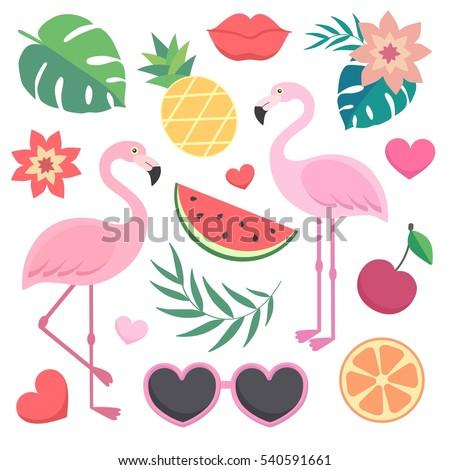 Sandía corazones plátano hojas espacio texto Foto stock © galitskaya