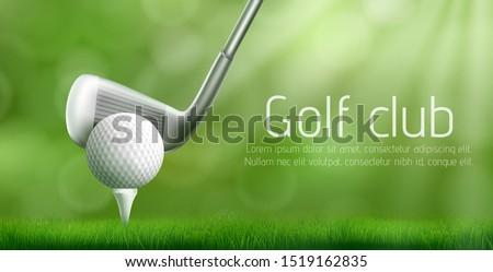 Golf turniej plakat informacji zielone piłka Zdjęcia stock © MarySan