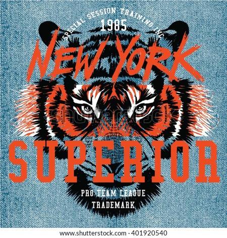 Skateboarding tshirt Nowy Jork typografii wydruku godło Zdjęcia stock © Andrei_