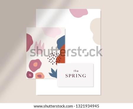 Abstract art, botanical shadows overlay on pink background for h Stock photo © Anneleven